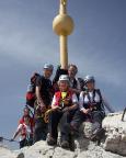 Gipfelglück auf der Zugspitze nach einer großartigen Tour