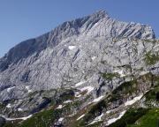 Die Nordwand der Alpspitze, aufgenommen vom der Bergstation der Alpspitzbahn