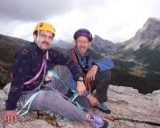 Andreas Richter und Aldo Bergmann auf dem Gipfel des Westgipfel des Torre Grande
