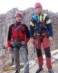 Thomas Herrmann und Steffen Große auf dem Gipfel des Westgipfel des Torre Grande