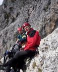 Steffen und Thomas auf dem Gipfel des Kleinen Falzaregoturms