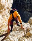 Große Zinne - Normalweg - Steffen Große in der 40m Einstiegsrinne