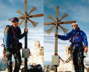 Große Zinne - Gipfelfoto, gemeinsam mit Volker im Oktober 2003