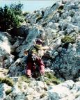Auf den letzten Metern zum Gipfel des Großen Rotofenturms