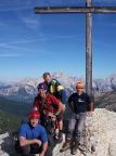 Ein große Bergfahrt auf einen herrlichen Gipfel mit herrlicher Aussicht