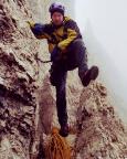 Il Gobbe, Nordwand - der Schock nach der Abseilpanne sitzt tief