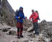 Il Gobbo Nordwand - das Werk ist vollbracht, inzwischen regnet es in Strömen