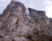 Blick vom Einstieg in die Nordwand, Fantin/Vecellio, am Il Gobbo