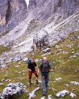 Beim Zustieg zum Il Gobbo von der Fonda-Savio-Hütte kommend