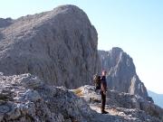 Beim Zustieg zum Croda di Roda aus Richtung Rosetta-Seilbahn
