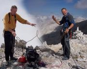 Geschafft - auf dem Gipfel nach einer genialen Tour - das ist eine Montage