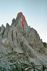 Die Führe am Nordnordwestgrat des Paternkofels