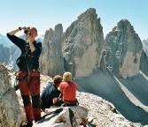 Paternkofel Gipfel, tolle Fernsichten, hier auf die Drei Zinnen
