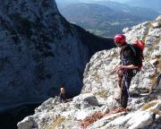 Andreas Richter erreicht den Ausstieg des Südwestpfeilers