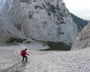 Unangenehm aber objektiv ungefährlich, Abstieg zur Dammkarhütte