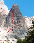 Punta Col Di Varda - Nordwestwand - Comici – grobe Route