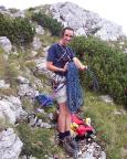 Ankunft nach toller Bergfahrt auf dem Gipfelgrat des Roßsteins