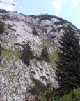 Sonnenplatte und Westpfeiler am Roßstein aus der Ferne