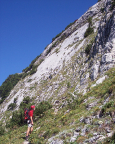 Die Sonnenplatte am Roßstein aus Sicht des Zustiegs