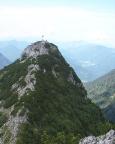 Der Roßstein, aufgenommen vom Gipfel des benachbarten Buchsteins