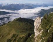 Rosssteinnadel aus Sicht Tegernseer Hütte, ein gewaltiger und schöner Felsen