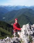 Thomas auf den letzten Metern des Westgrats zum Gipfelkreuz