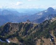 Blick vom Gipfel der Ruchenköpfe auf das Rotwandhaus