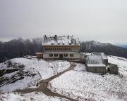 Wetterbesserung - Rotwandhaus und Berge waren plötzlich zu sehen