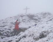 Wanderung im Nebel und Schnee auf die Rotwand