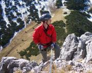 Geschafft - Neuling Torsten erreicht als Radfahrer verkleidet den Gipfel