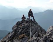 Klettern über den Südgrat auf den Taubenstein im Mangfallgebirge