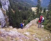 Abstieg zum Einstieg der Route auf der Südostseite