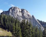 Taubenstein, von rechts kommend der Südgrat mit Gratturm