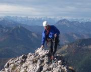 Ankunft auf dem Gipfel - mit einem großartigen Panorama