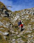 Sehr angenehm: der kurze und einfache Abstieg auf Touristenpfaden