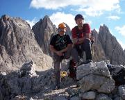 Andreas Richter und Aldo Bergmann, andere Blickrichtung vom Gipfel