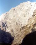 Blick in die gewaltige ca. 1800m hohe Ostwand des Watzmann