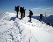 Und schließlich das Finale: auf dem Gipfel des Aletschhorns