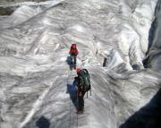 Unterwegs auf dem spaltenreichen Großen Aletschgletscher