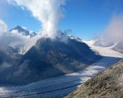 Blick auf das Aletschhorn und den Großen Aletschgletscher