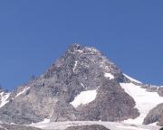 Blick in die Südwand des Großglockners beim Aufstieg von Kals