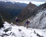 Beginn des Aufstiegs von der Stüdlhütte in Richtung Ködnitzkees