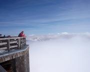 Auf Höhe der Adlersruhe haben wir die Wolkendecke durchstiegen