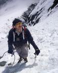 Andreas staunt - es geht ungeahnt weit und steil nach oben