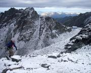 Blick vom Ködnitzkees zur Stüdlhütte und auf die angesagte Wetterbesserung