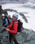 Abstieg von der Adlersruhe auf dem Felsensporn zum Ködnitzkees