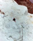 Maria im Einschlagbereich des Eisbruchs, es muss schnell gehen