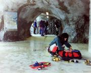 Station Eismeer der Jungfraubahn - hier gilt es die Ausrüstung anzulegen