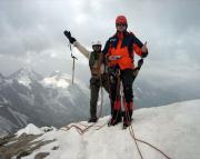 Ivo und Steffen glücklich auf dem Gipfel der Jungfrau