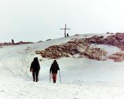Die letzten Meter zum Gipfel des Cima Fiamante - Lodner